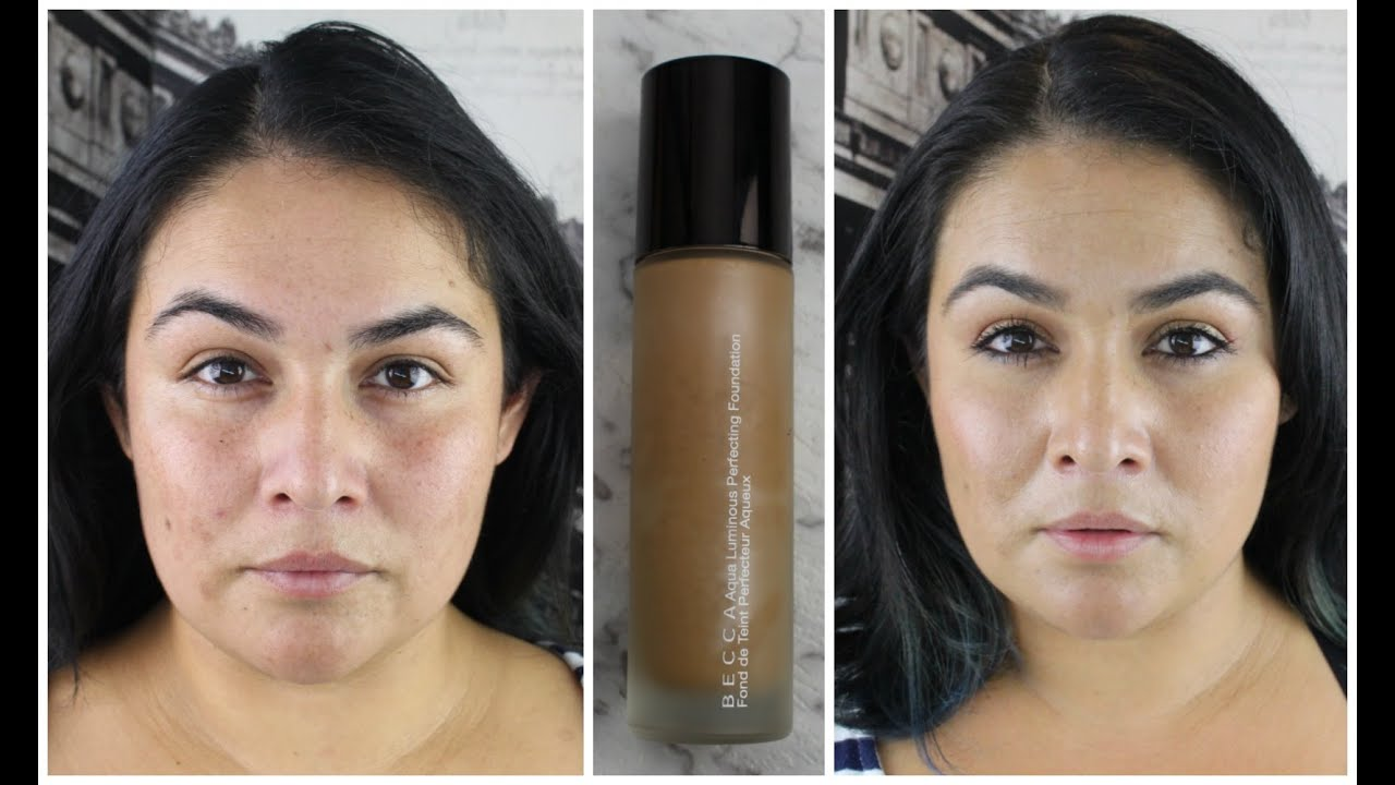 becca aqua luminous foundation review